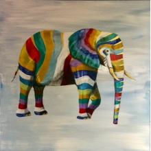 Rainbow Elephant by Raph Thomas
