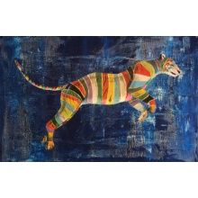 Rainbow Leaping Tiger by Raph Thomas