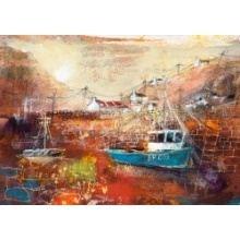 A Fishing Boat At Pennan by Kanita Sim