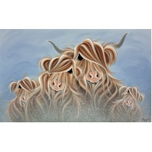 Fa-moo-ly Together In The Mist by Jennifer Hogwood