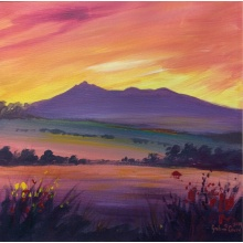 Amber Glow Over Bennachie by Graham Covey