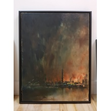 Fog Painting III 'Oil Refinery' by Chris Rivers