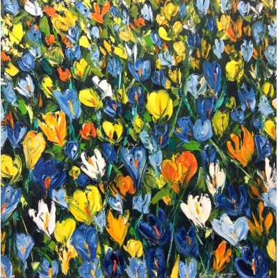 Blue Crocuses by Elena Guillaumin